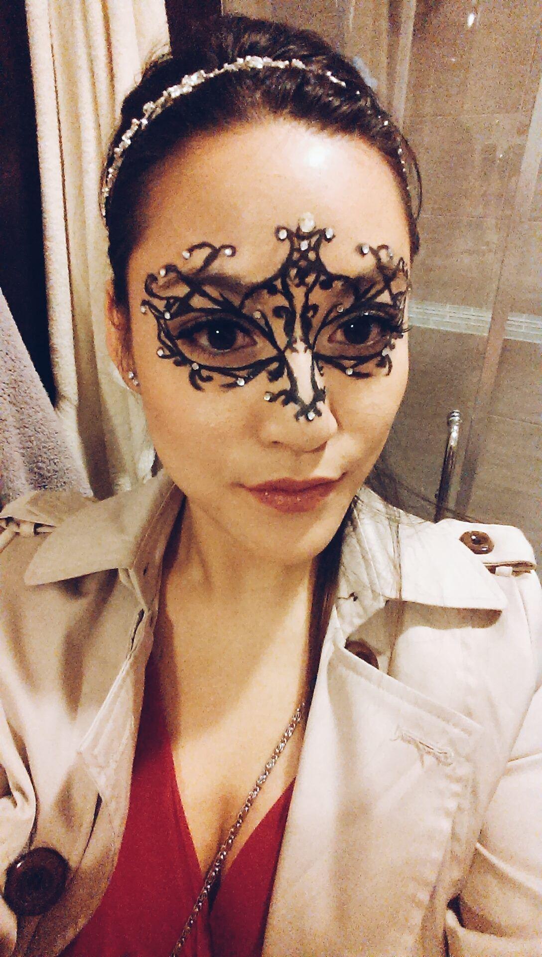 Create a makeup masquerade mask with eyeliner!   Masquerade mask ...