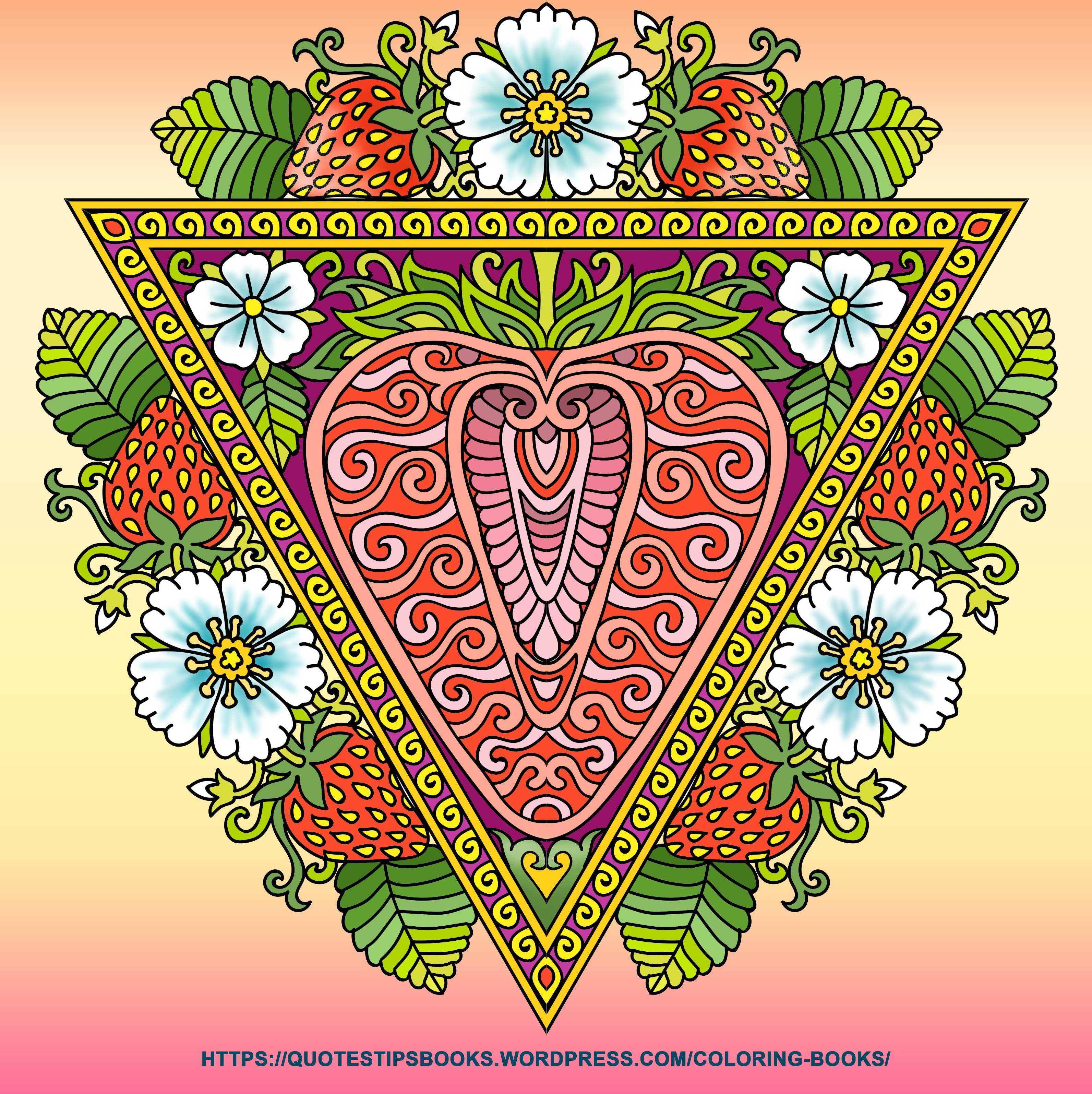 Artist Kameliya Angelkova Book 50 Triangular Mandalas Farben
