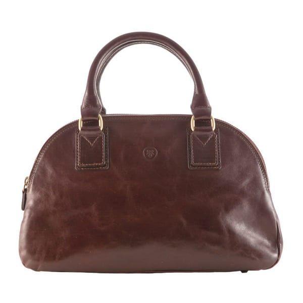 Maxwell Scott Bags Luxury Italian Leather Women S Bowling Bag Liliana Chocolate Brown Maxwellscottbags
