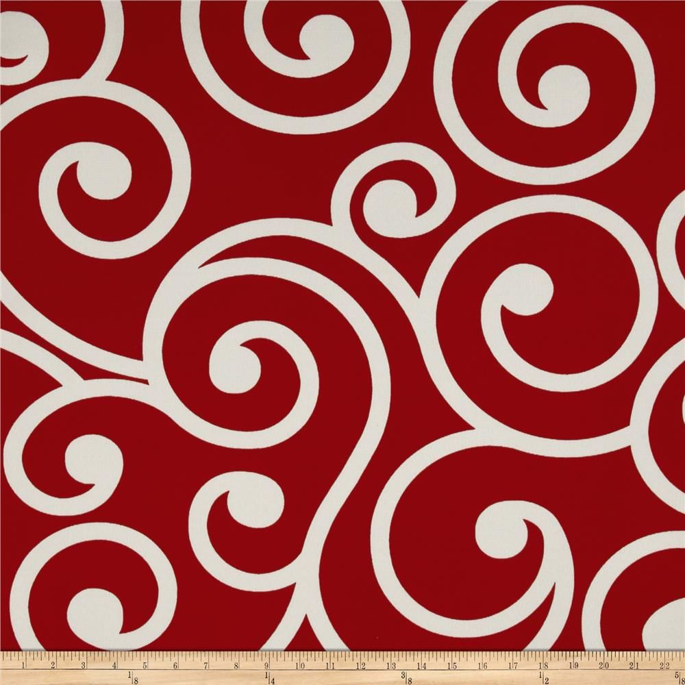 Discount outdoor fabric by the yard - Richloom Solarium Outdoor Best Red