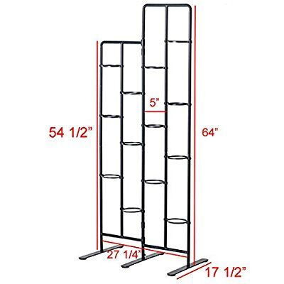 Vertical Metal Plant Stand 13 Tiers Display Plants Indoor or Outdoors on a Balcony Patio Garden or Use as a Room Divider or Vertical Garden Inside Your Home or Great for Urban Gardening (Dark Gray) #outdoorbalcony
