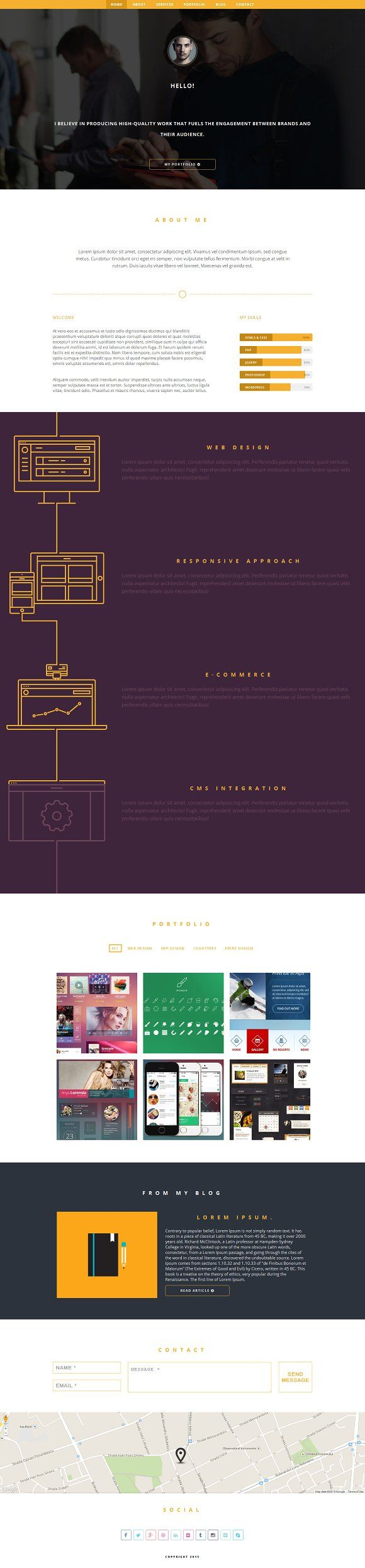Dafreelancer Web template design, Css templates, Css