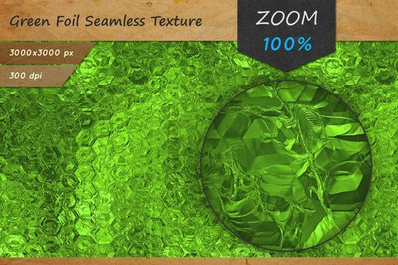 Green Foil Tileable HD Texture. Christmas Patterns. $2.00