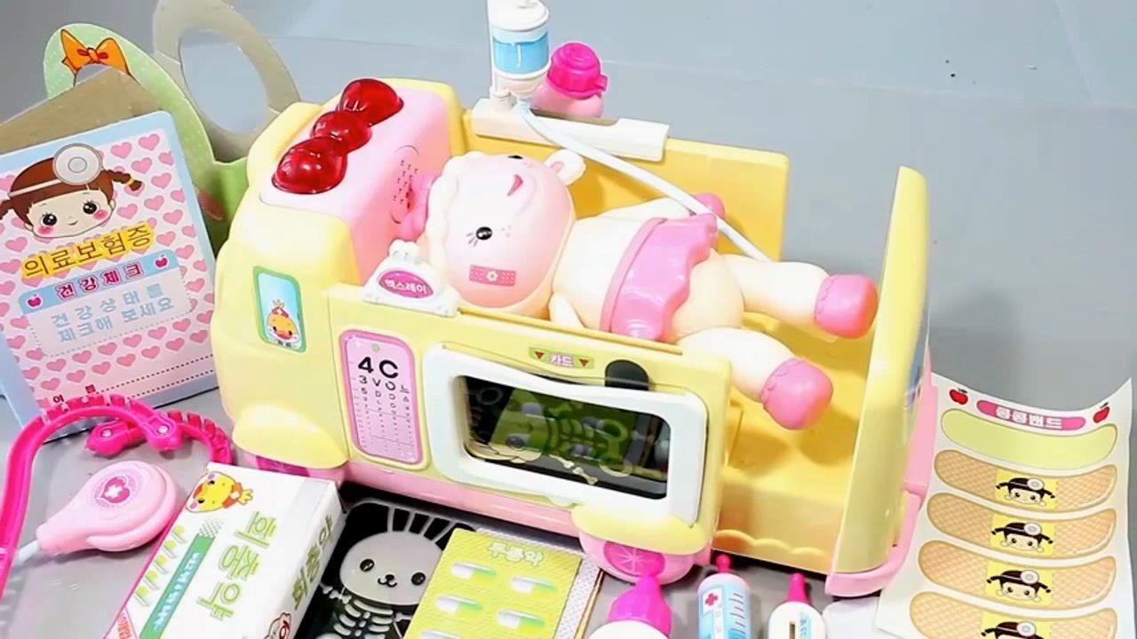 Baby Doll Doctor Kit Ambulance Syringe Slime Toy Surprise Baby Doll Bath Baby Dolls Slime Toy Surprise Eggs Toys