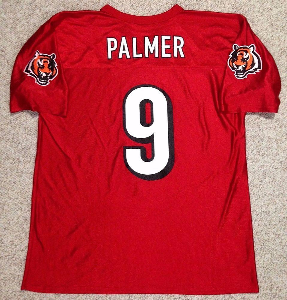 Rare SHINY RED vtg CINCINNATI BENGALS CARSON PALMER JERSEY 9 ADULT LRG  men women  NFL  CincinnatiBengals 4d8ad8f61