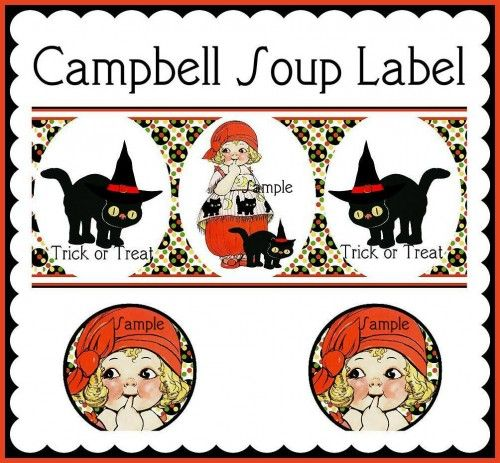 Vintage Dolly Dingle Paper Doll Halloween Campbell Soup Labels