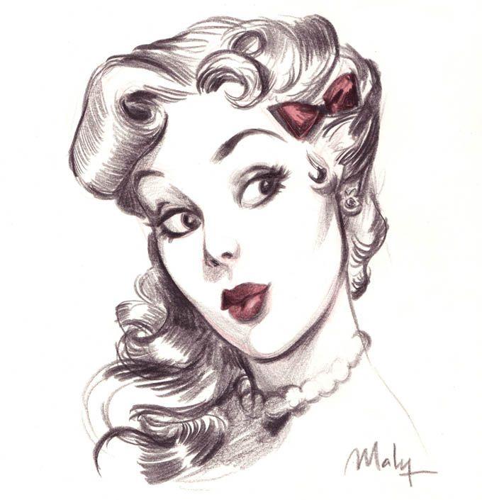 Поздравления день, рисуем карандашом картинки в стиле ретро