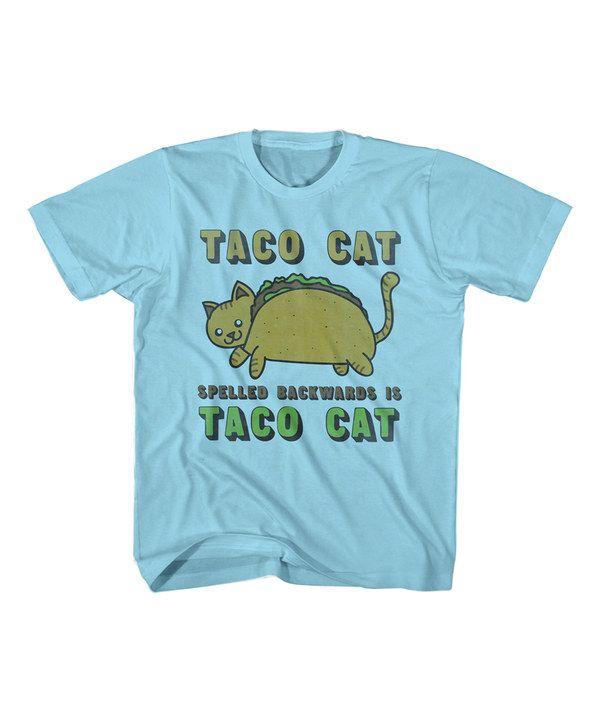 Light Blue 'Taco Cat' Tee - Toddler & Kids