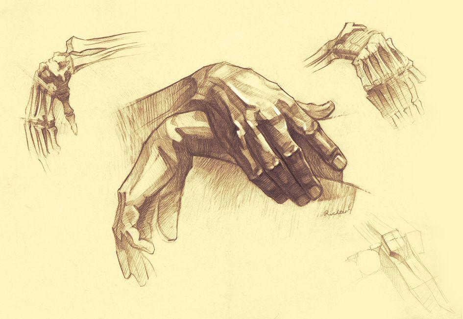 creative hand drawings - 945×650