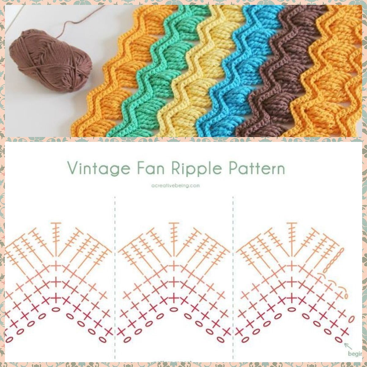 Vintage Fan Ripple Pattern | Crochet | Pinterest | Croché, Ganchillo ...