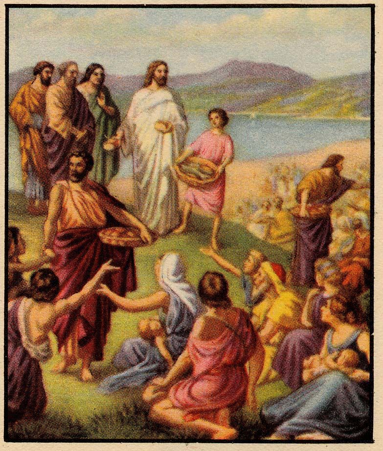 Matthew 14 13 21 jesus feeds the 5000 bible stories for Teach a man to fish bible verse