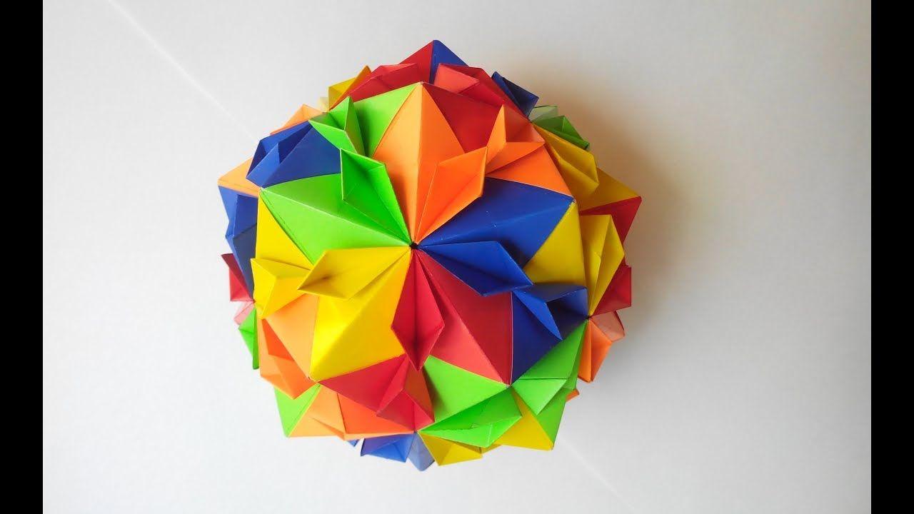 Tomoko Fuse Kusudama Blooming Origami Diagrams Cherry Ball Youtube