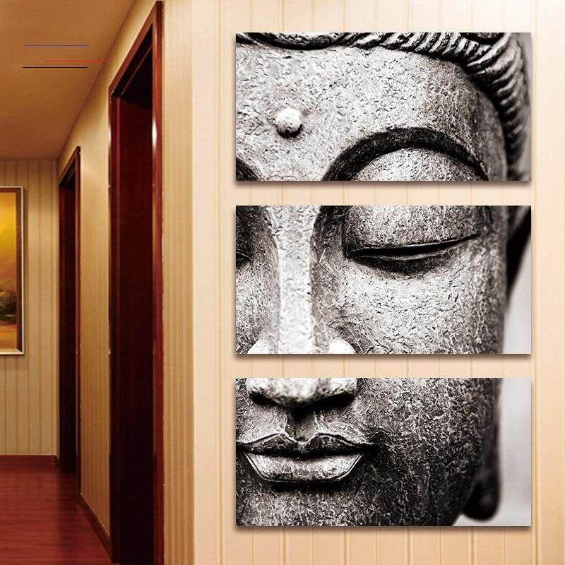 3 Panel Vertical Buddha Wall Art Buddhadecor In 2020 Buddha Wall Art Buddha Wall Art Canvases Buddha Canvas