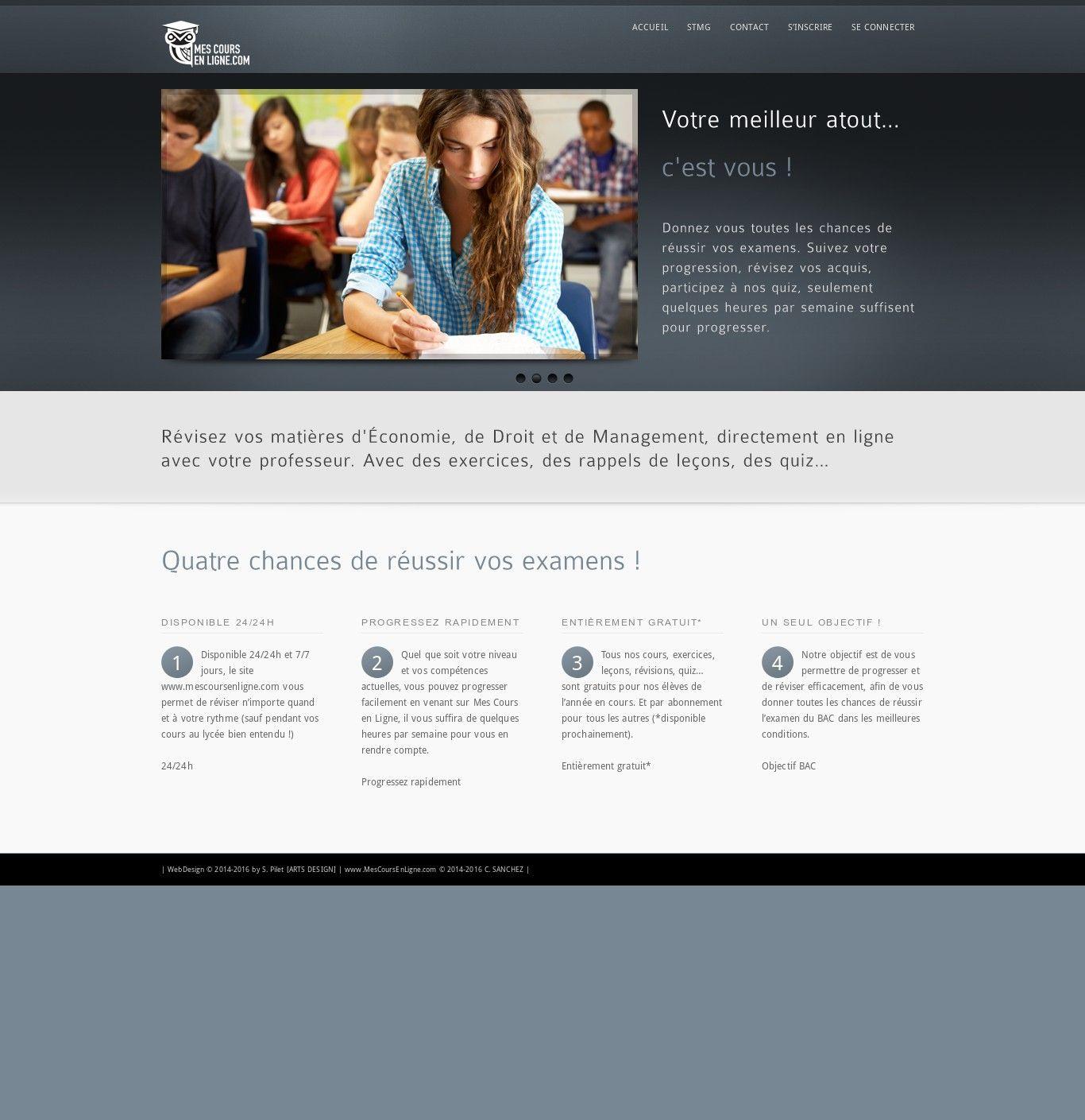 WordPress site mescoursenligne.com uses the inFocus wordpress ...