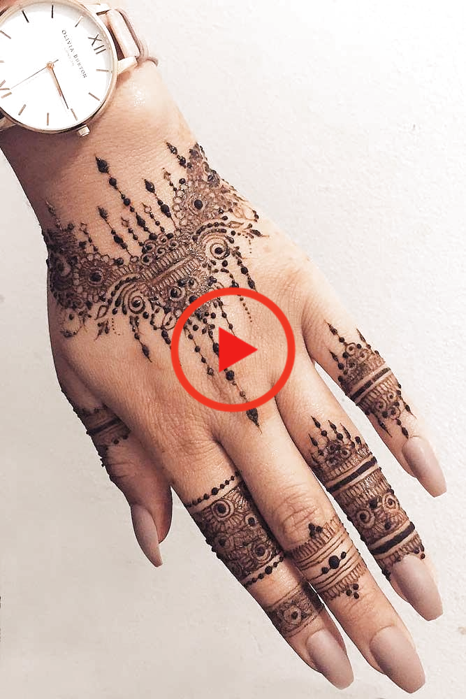 Arm Tattoo Design Made With Henna #armtattoo ★ Discover amazing simple and intricate henna tattoo designs and their meanings. Embellish your arm, leg, foot, other body parts. #hennatattoo #hennatattoodesign #hennatattoodesigns #tattooideas #tattoodesigns #tattooforwomen #tattoo