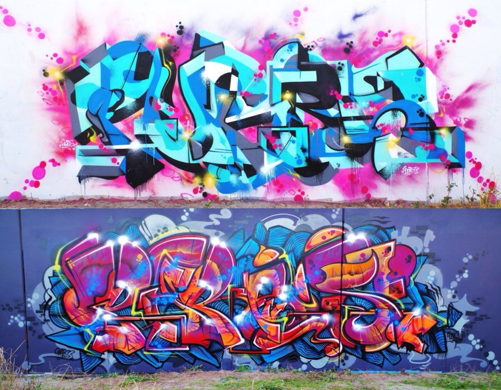 Two fresh burners from @_pures in Aus (http://globalstreetart.com/pures-hd).