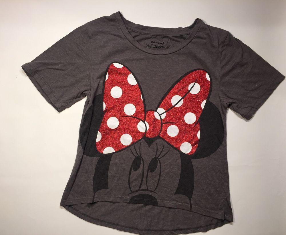 c6fa2e9003f60 Walt Disney World Women s Tee Shirt Grey MINNIE MOUSE SIZE M 60% Cotton