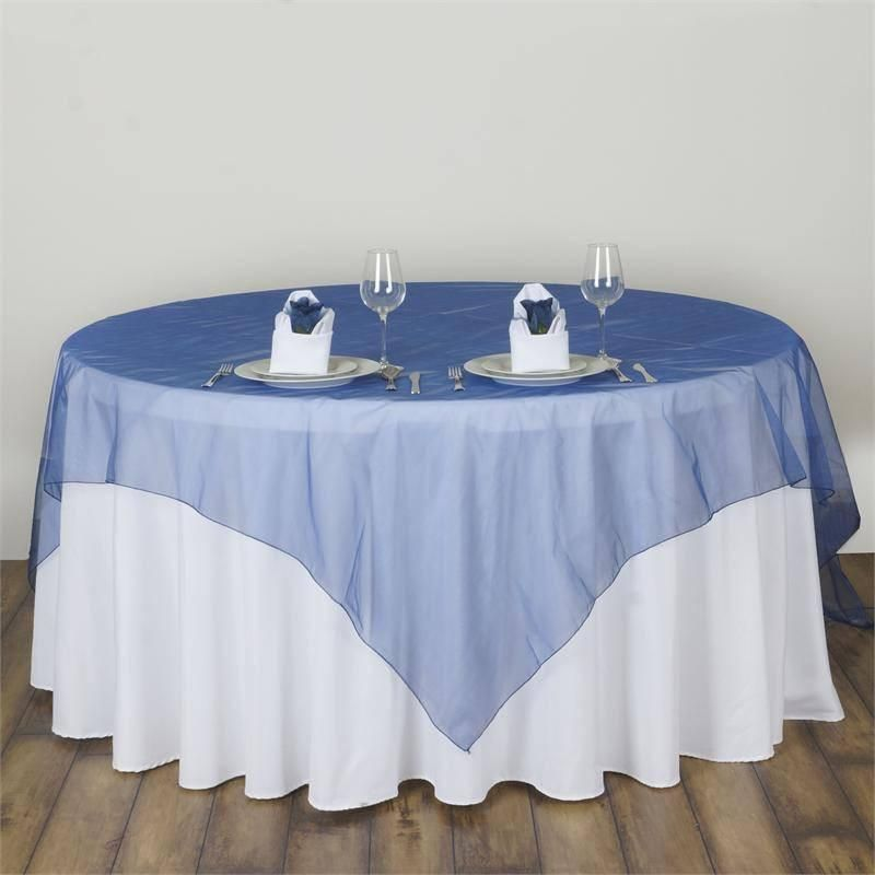 Royal Decor Supply 1 Pack 36 BLUE ROUND POLYESTER TABLECLOTH FOR WEDDING PARTY /& VENUE DECORATION