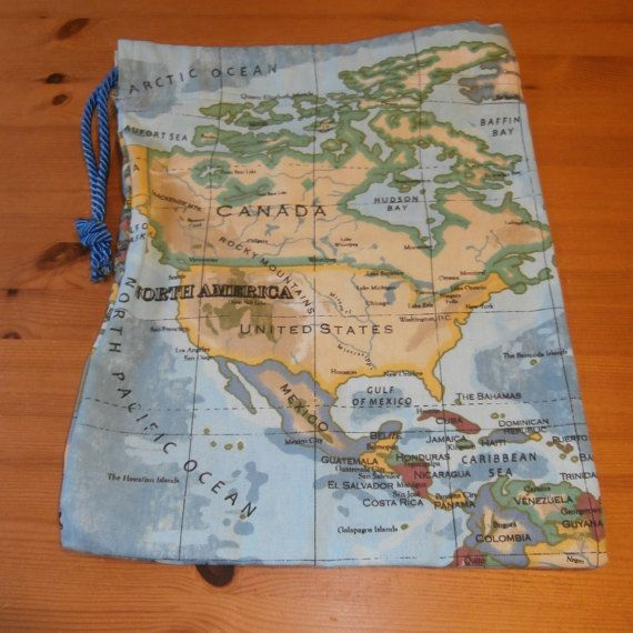 Shoe bag world map design map design shoe bag and ballet shoe shoe bag world map design by shazzassewingbasket on etsy gumiabroncs Choice Image