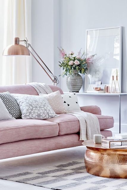 Pink Gold A Sprinkle Of White Silver Feminine Living Room Living Room Designs Living Room Inspiration