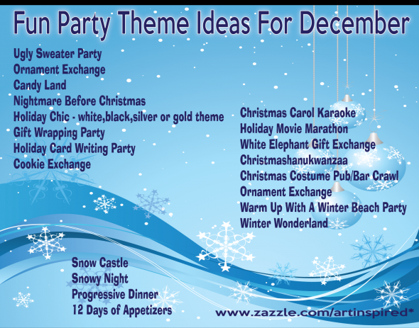 Christmas Party Themes. As if I need an excuse for a party