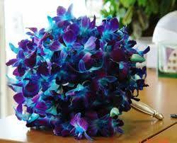 Blue Orchid Bouquet!! LOVE