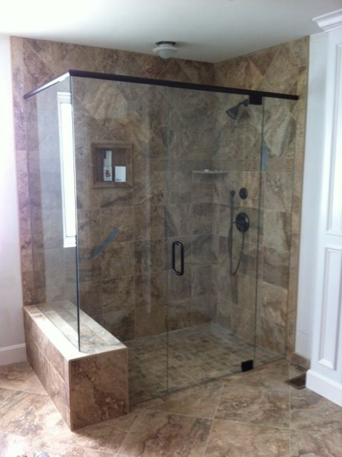 Another Barrier Free Lication Showcased In This Frameless Seamless Shower Enclosure Additionally The Seat And Nook Add To Functionality