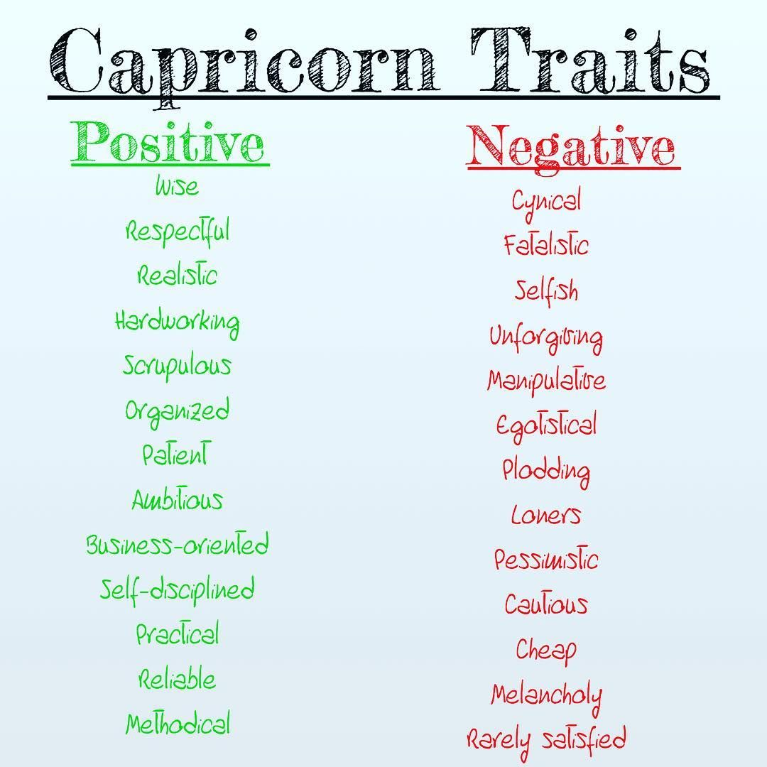 Positive and negative traits of people 7