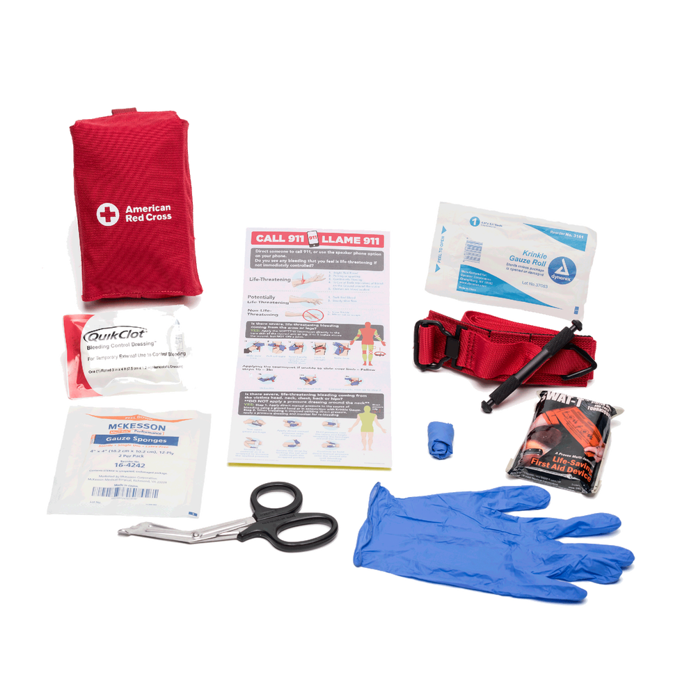 Stop The Bleed Kit Professional Red Cross Store First Aid Kit Red Cross Emergency Essentials