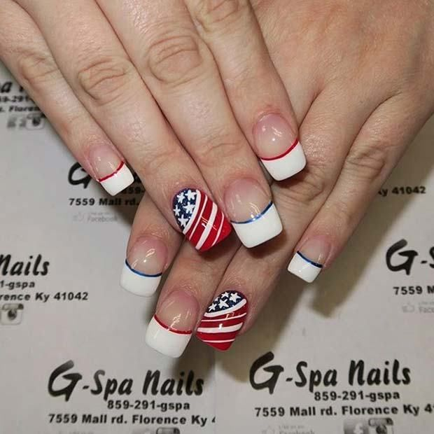 10 Funky And Fun 4th Of July Nail Designs Accent Nails And Art Nails