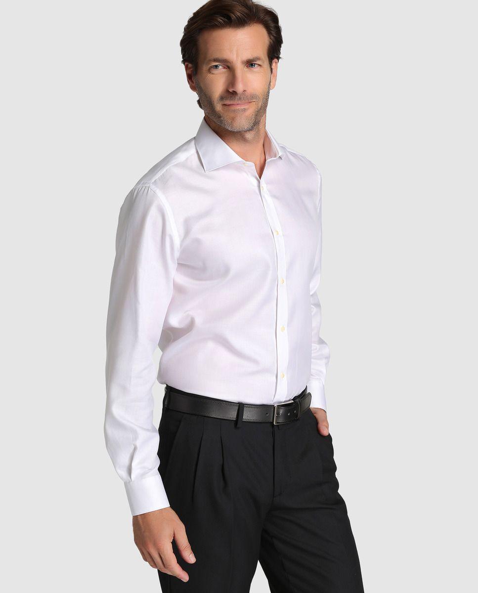 06c0f841c Camisa de hombre Emidio Tucci classic lisa blanca
