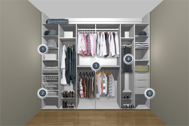 White Fitted Sliding Wardrobe For His Hers Small Bedroom