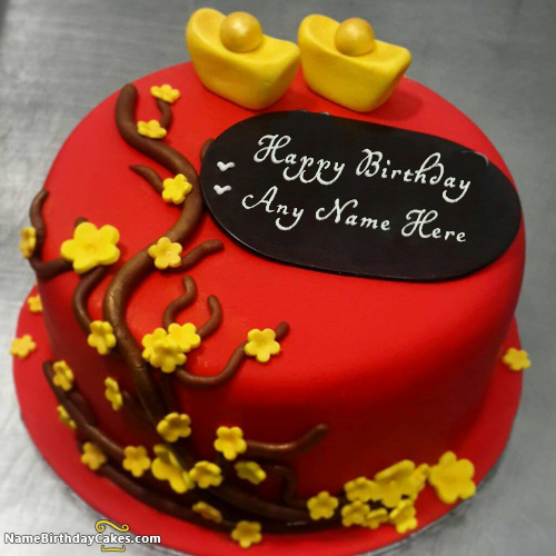 Best Red Velvet Cakes For Wife Birthday With Name With Name Photo
