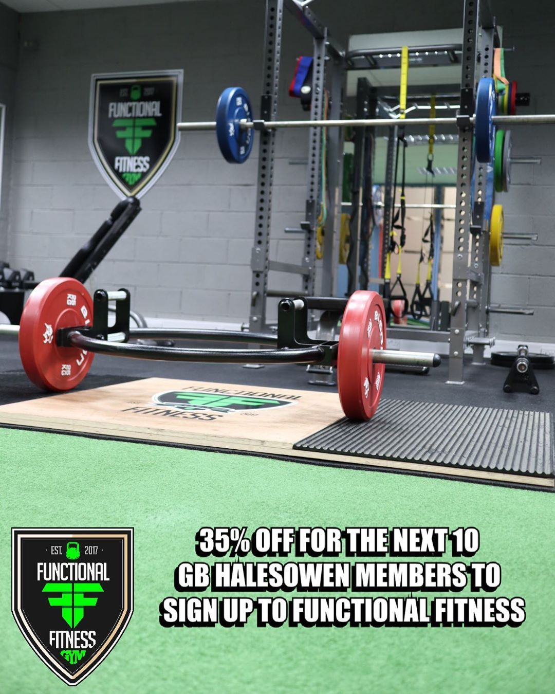 We are offer 35% off the functional fitness memberships for the next 10 GB Halesowen members to join...