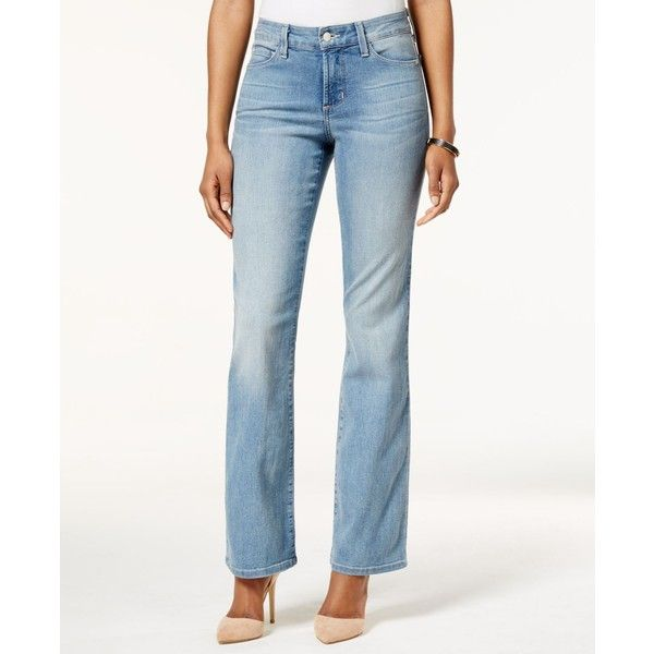 Nyjd Barbara Manahatten Beach Wash Bootcut Jeans ($124) ❤ liked on Polyvore featuring jeans, manahatten beach, white boot cut jeans, bootcut jeans, light wash bootcut jeans, boot cut jeans и light wash jeans