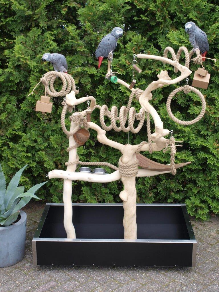 Een Speelparadijs Voor Uw Vogel Speelbomen Worden Naar Wens En Op Maat Gemaakt Opbouw En Inrichting Worden Volledig A Vogel Speelgoed Vogelspeelgoed Papegaai