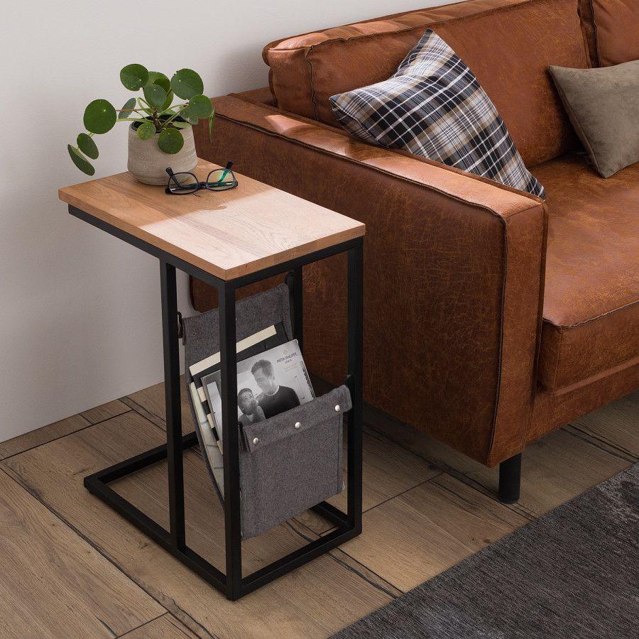 Beistelltisch Montverde Lll Eiche Massiv Metall Home24 Haus Deko Beistelltische Wohnzimmer Beistelltisch Holz