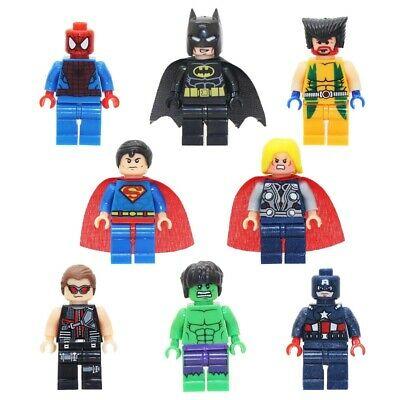 8PCS-LOT-8 Super Heroes Spiderman  minifigure Custom Printed lego minifigure