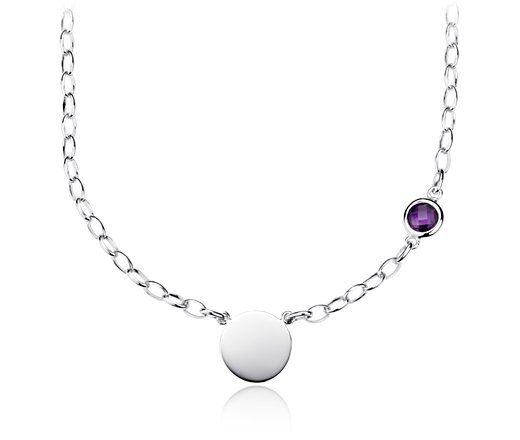 Amethyst Birthstone Necklace in Sterling Silver | Blue Nile