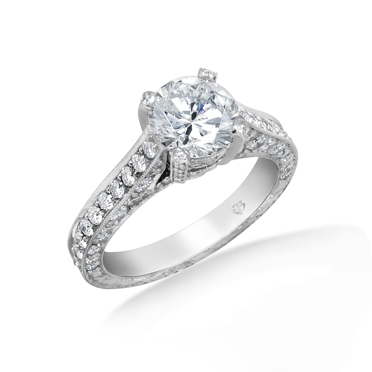 Chicago Bridal Marshall Pierce Company Jack Kelege Cathedral Engagement Ring Priced From Cathedral Engagement Rings Stunning Engagement Ring Engagement
