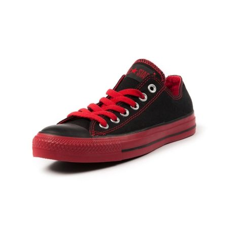 cea91bf282 Shop for Converse All Star Lo Athletic Shoe in BlackRed at Shi by Journeys.  Shop today for the hottest brands in womens shoes at Journeys.com.