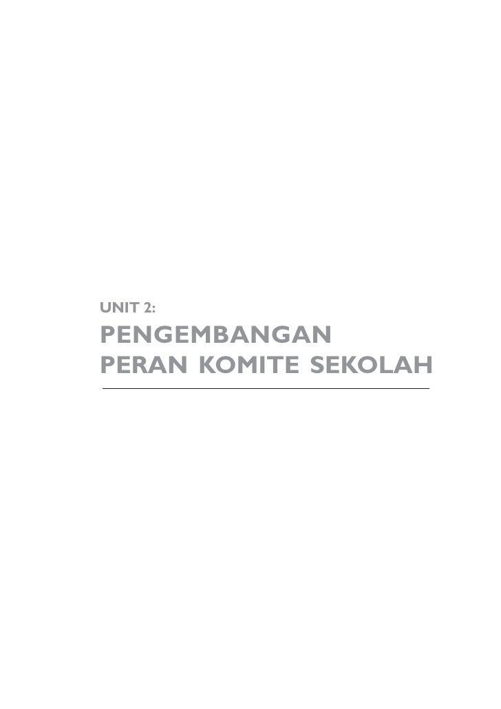 Unit 2 Pengembangan Peran Komite Sekolah The Unit Math Math Equations