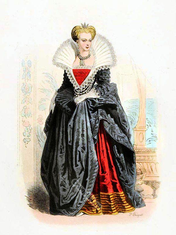 Marguerite De Valois Margaret Of France Queen Of France In Tudor Costume Spanish Clothing Court Dress Fa Tudor Costumes Renaissance Fashion Fashion History