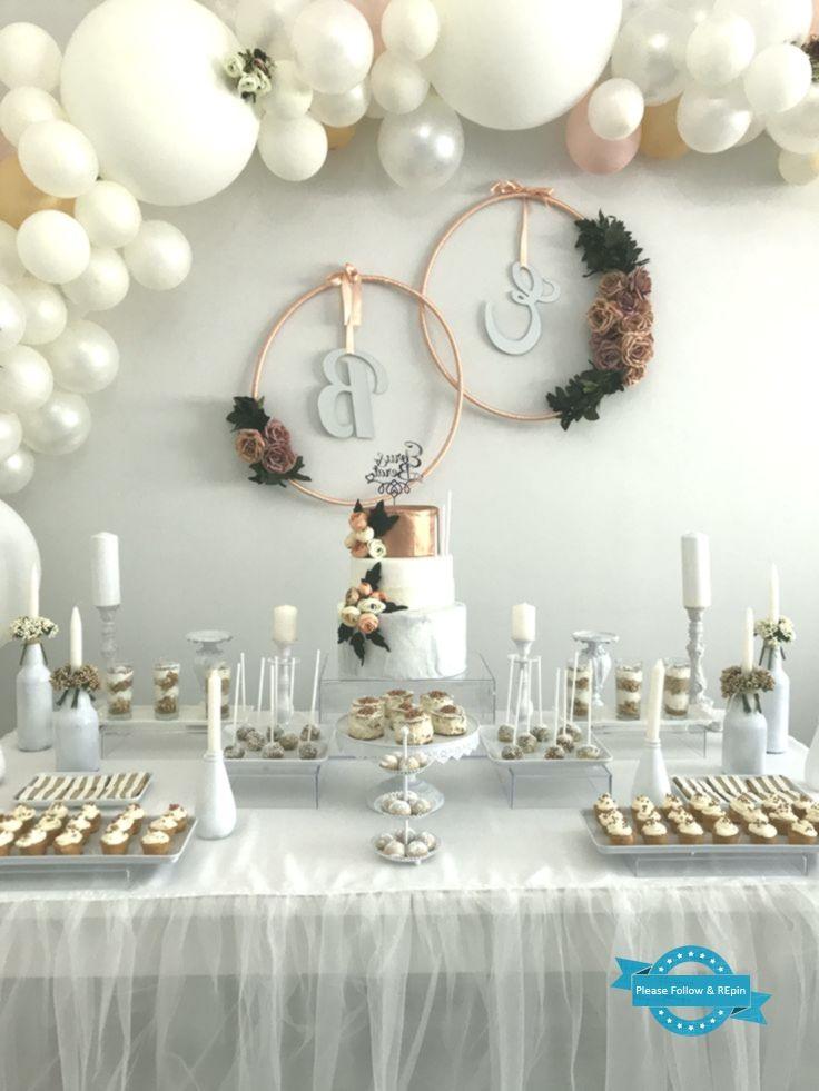 Pin By Elina Falepapalangi On Elijah In 2020 Bridal Shower Decorations Elegant Baby Shower Engagement Decorations
