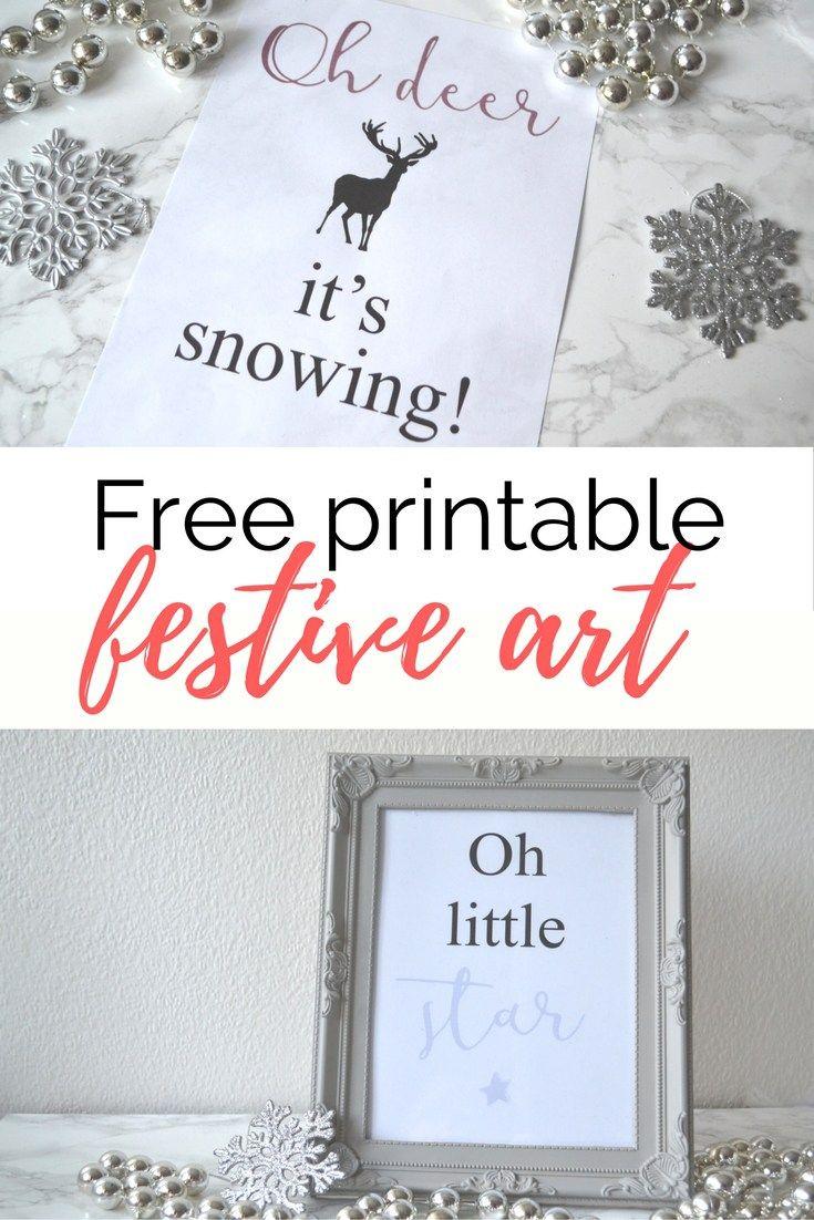 Beautiful free printable christmas wall art for the home. Simply print and enjoy!