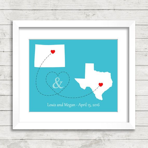 8x10 Usa Love Maps Denver Colorado Austin Texas Two States One Print Any States Available Long Dista In 2020 Colorful Backgrounds 8x10 Print Photo Mailers