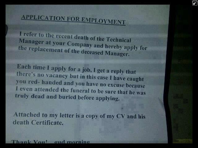 Hell #Funny #employment #Letter Funny Pics Pinterest Funny pics - employment letter