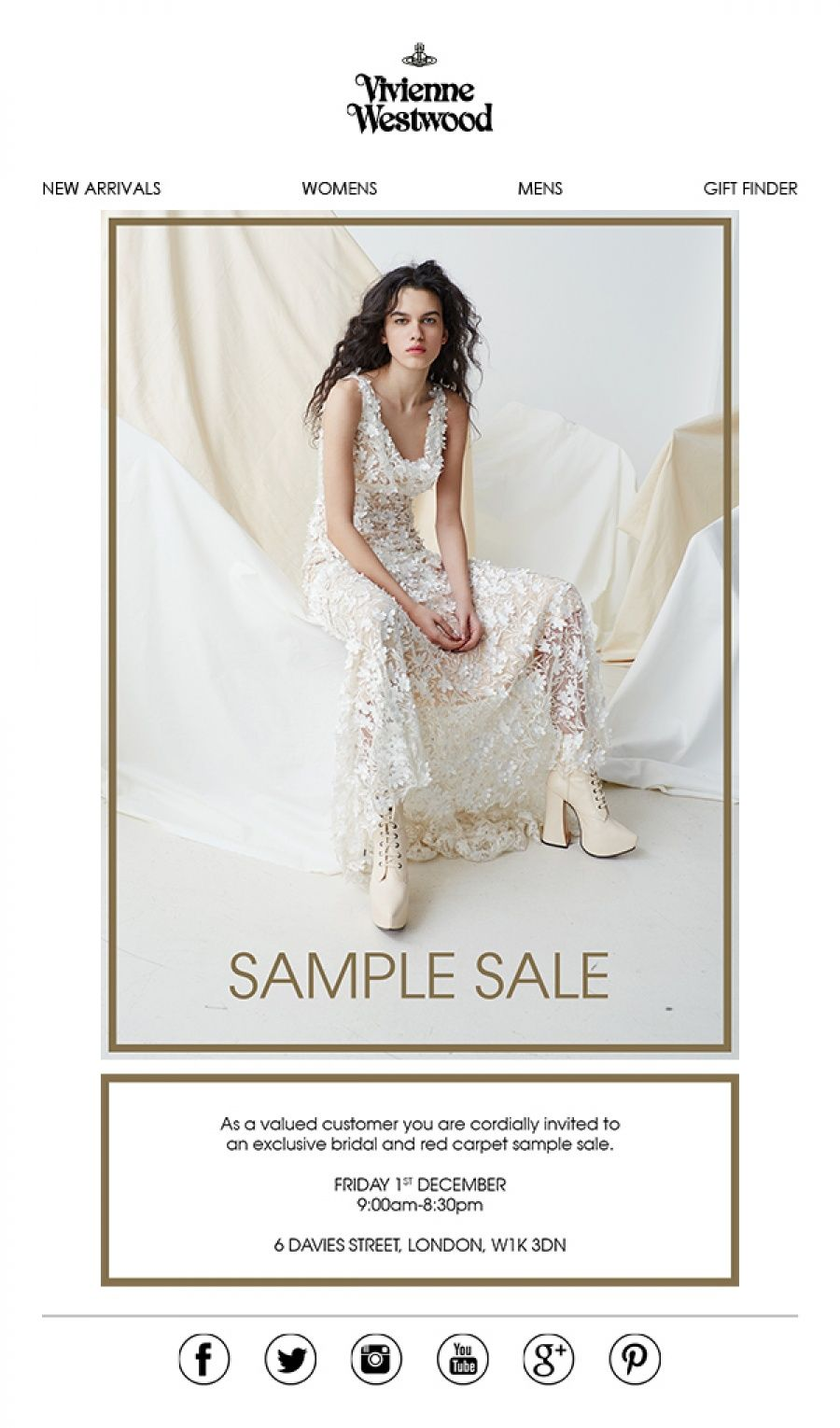 Vivienne Westwood Bridal Sample Sale -- London -- 01/12 | Sample ...