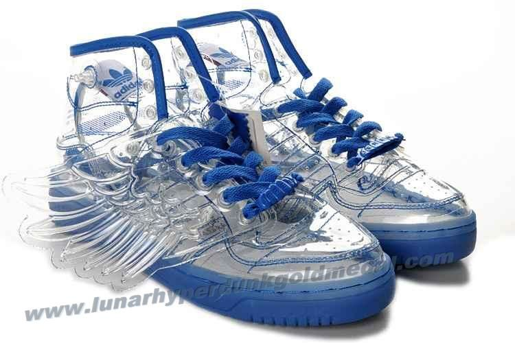 Adidas X Jeremy Scott Wings Clear Shoes Blue Outlet