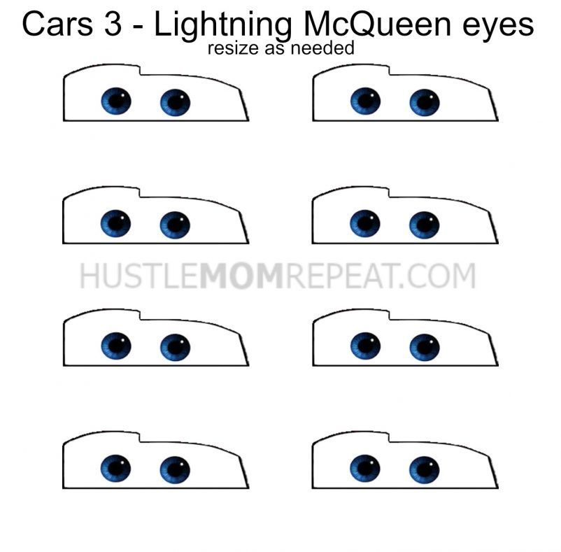 Modest image throughout lightning mcqueen eyes printable
